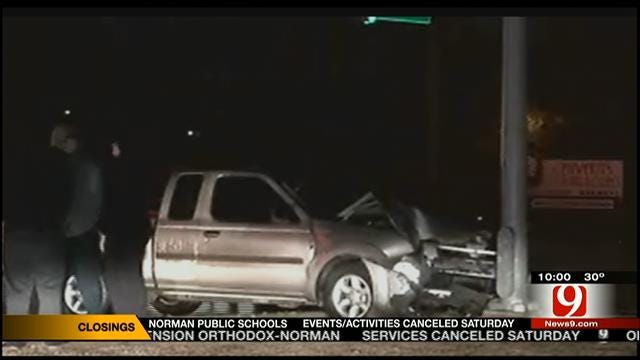 Multiple Crashes Reported As Ice Rains Down On OKC Metro