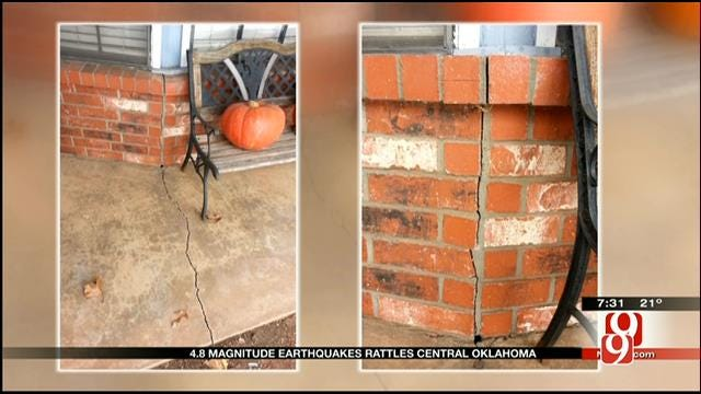 4.8 Magnitude Earthquake Rocks Central Oklahoma