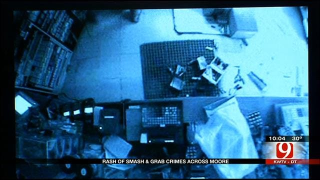 Moore Police Seek Convenience Store Smash And Grab Suspects