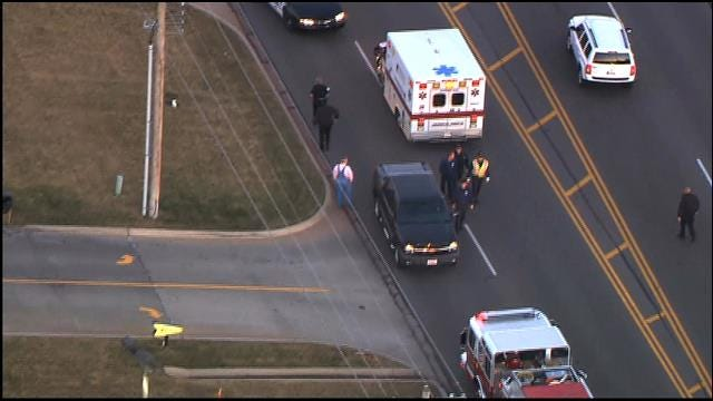 WEB EXTRA: Crews Respond To Auto, Pedestrian Accident In Midwest City