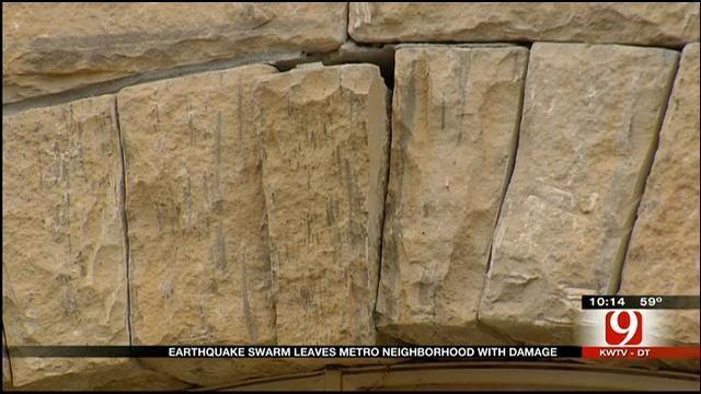 Earthquakes Damage Homes In Northwest OKC Neighborhood