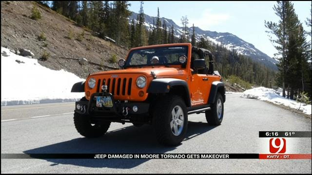 Moore Tornado Victim's Damaged Jeep Gets Makeover