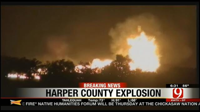 Natural Gas Pipeline Explodes In Harper County