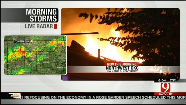 Firefighters Battle Early Morning House Fire In NW OKC