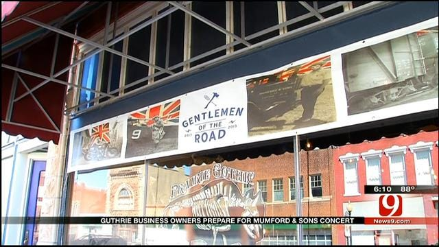 City Of Guthrie Busy Preparing For 'Mumford & Sons' Music Event