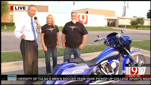 Custom-Made Bike Unveiled For Ride Against Childhood Hunger