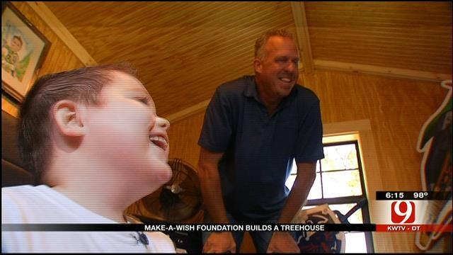 'Make A Wish' Builds Dream Tree House For Sick Wynnewood Boy