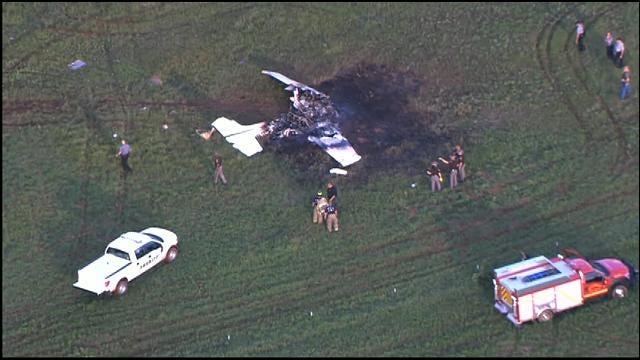 WEB EXTRA: SkyNews 9 Flies Over OHP Plane Crash