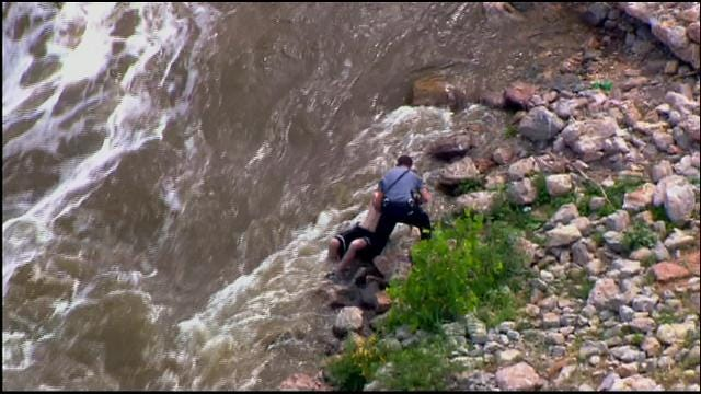 WEB EXTRA: SkyNews 9 Flies Over Water Rescue In SE OKC