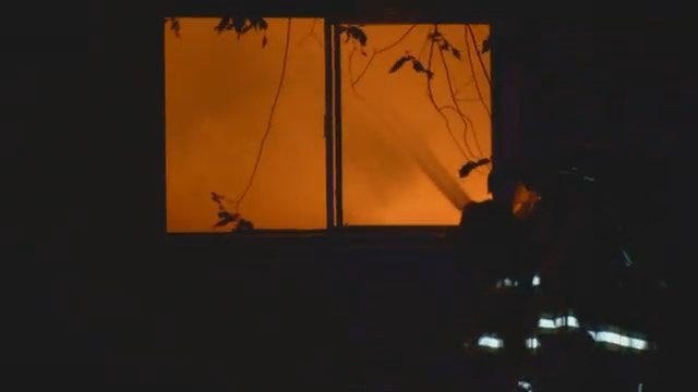 WEB EXTRA: Sperry Fire Destroys Home