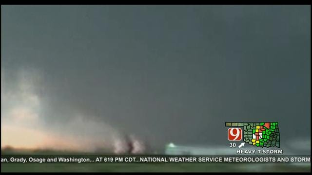 News 9 Storm Trackers Chase Multiple Tornadoes Near OKC Metro