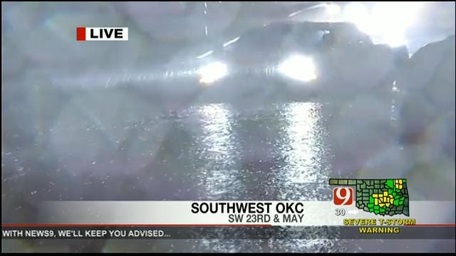 News 9's Steve Shaw Shows Drivers Brave Flooded Metro Streets