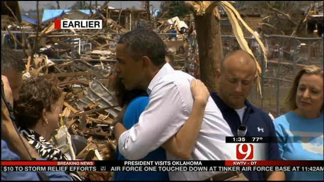 President Obama Surveys Damage, Visits Tornado Victims
