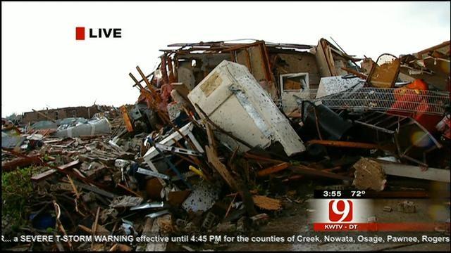 Massive Tornado Causes Damage In Oklahoma City Metro