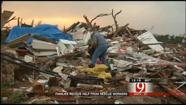 Officials Assess Tornado Damage In Carney
