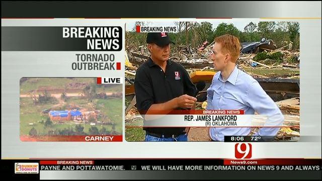 Congressman James Lankford Tours Storm Damage In Bethel Acres