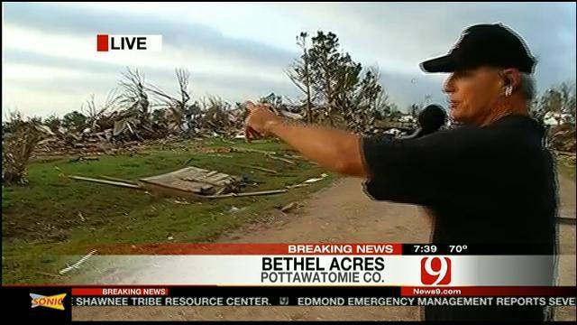 Stan Walks Through Debris In Bethel Acres