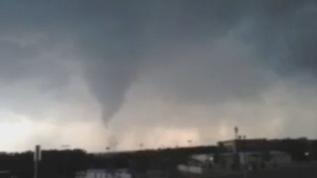 WEB EXTRA: Edmond Tornado Drifts Toward The Ground