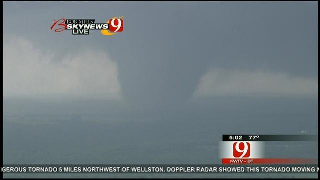 WEB EXTRA: Massive Tornado Rumbles Toward Carney