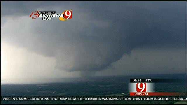 WEB EXTRA: Tornado Forms Waterspout Over Lake Thunderbird, Grows Larger