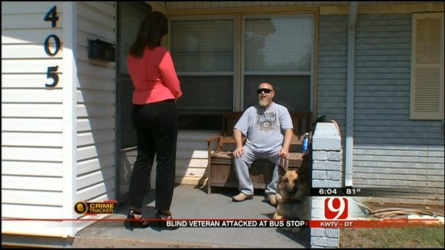 Blind Oklahoma Veteran Gets The Better Of His Attacker