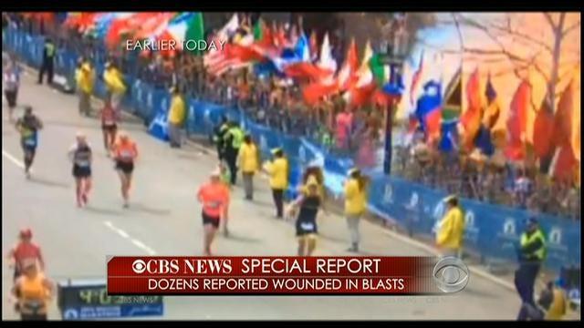 CBS Video Of Explosion At Boston Marathon