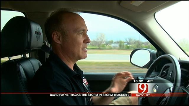 Meteorologist David Payne Tracks Storms In Storm Tracker 9