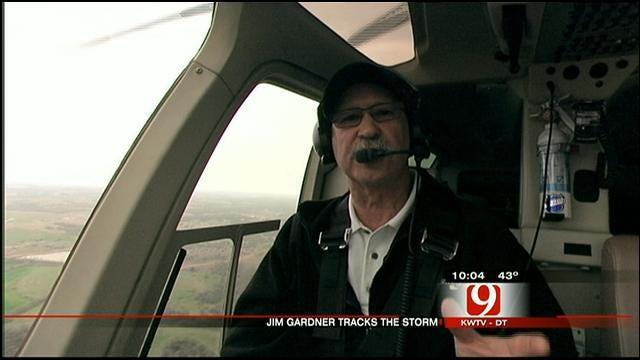 Bob Mills SkyNews 9 HD Pilot Jim Gardner Tracking Storms In OK