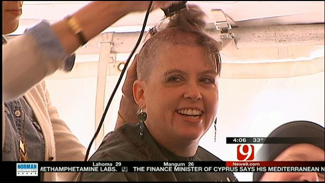 Oklahoma Mothers Shave Heads For Children's Cancer Research