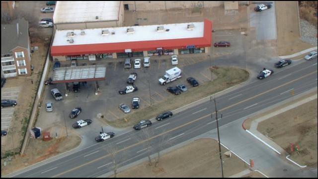 Bob Mills SkyNews 9 HD Over The Scene Of Officer-Involved Shooting