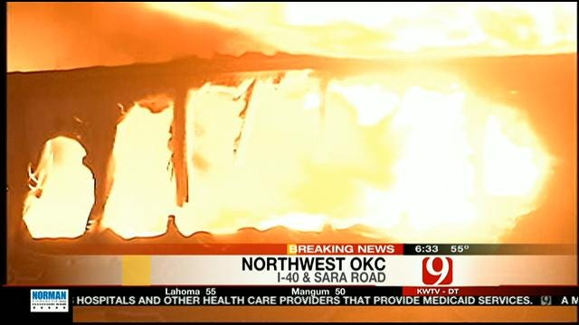 Driver Dies In Fiery Crash On Westbound I-40