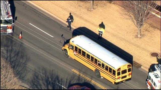WEB EXTRA: Bob Mills SkyNews 9 HD Flies Over SW OKC School Bus Accident
