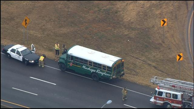 WEB EXTRA: Muskogee School Bus Involved In Accident On I-240