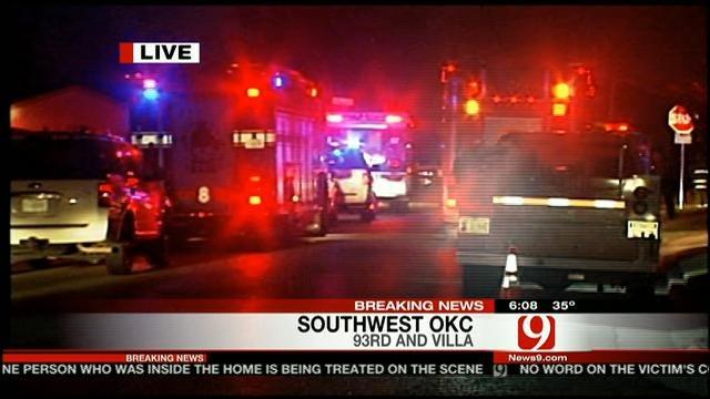 News 9's Michael Konopasek At The Scene Of SW OKC Home Explosion