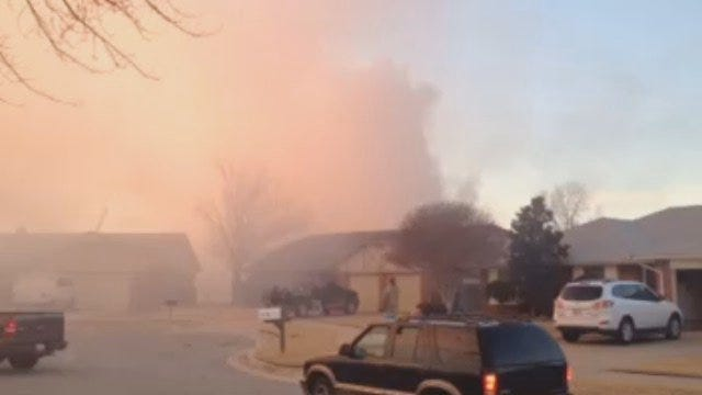 WEB EXTRA: Amateur Video Of Home Explosion