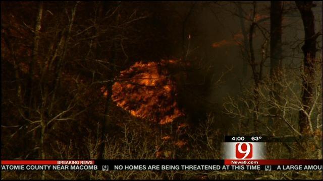 Crews Battle Grass Fire In Pott. County