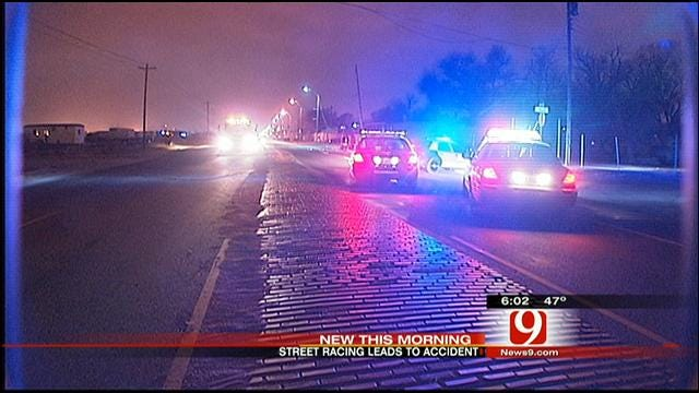 High-Speed Car Race In SW OKC Ends In Crash