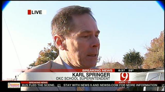 OKCPS Superintendent Karl Springer Speaks About School Bus Crash