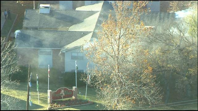 WEB EXTRA: Bob Mills SkyNews 9 HD Flies Over SE OKC Apartment Fire