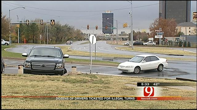 Police Ticket OKC Restaurant Patrons For Illegal Turn