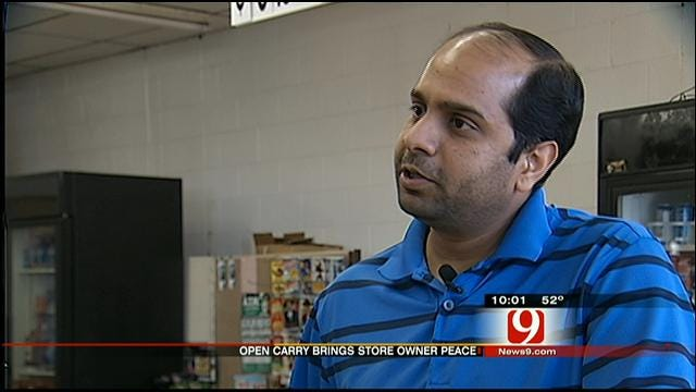 OKC Store Owner Says Open Carry Keeps Business Safer
