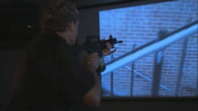 WEB EXTRA: Kelly Ogle In Police Shooting Simulation