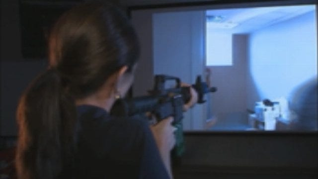 WEB EXTRA: Amanda Taylor In Police Shooting Simulation