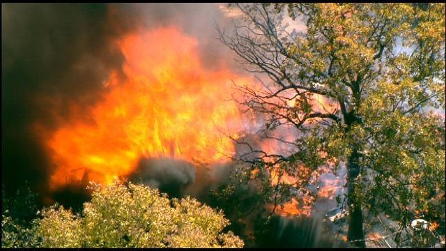 Massive Fire Destroys House Near Norman