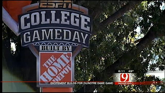 Oklahoma Fans Gearing Up For OU, Notre Dame Game Saturday Pt. 3