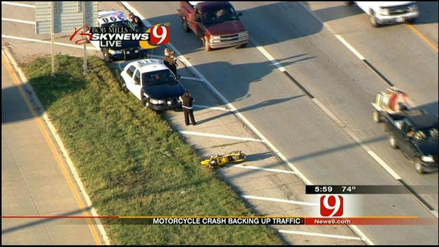 Jim Gardner Reports On Motorcycle Crash On I-35 In Edmond