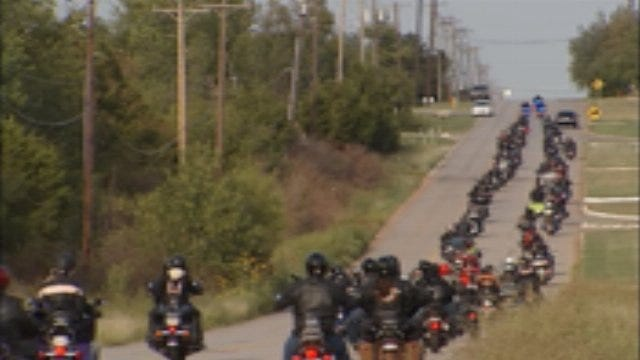 More Than 250 Motorcyclists Gather At News 9 For Stan's Ride