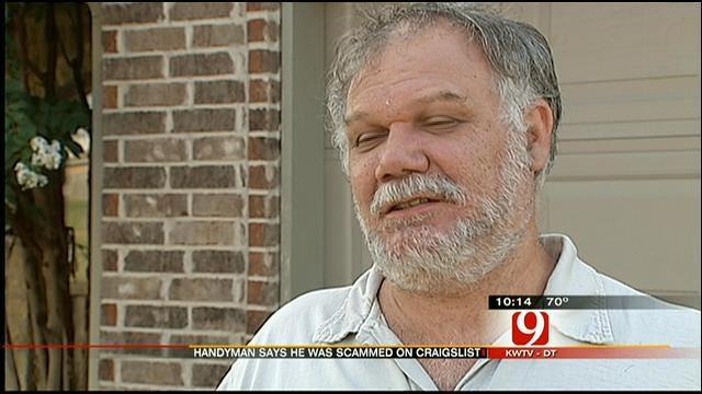 OKC CraigsList Handyman Claims He Was Scammed, Rethinks Site