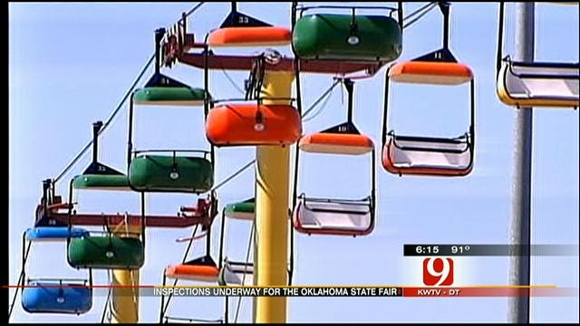 Crews Inspect Rides, Prepare For State Fair Opening
