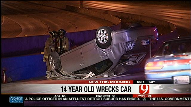 Teen Crashes Mom's Car On Northwest Expressway